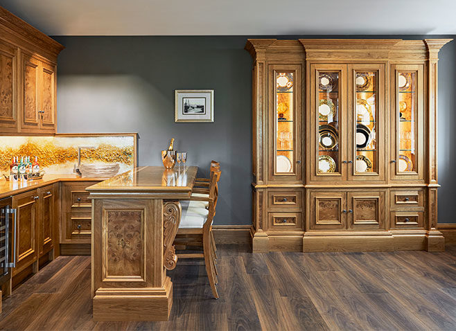 Clive Christian Furniture Corevitalised Lounge & Bar area within the Glancy Fawcett Showroom.